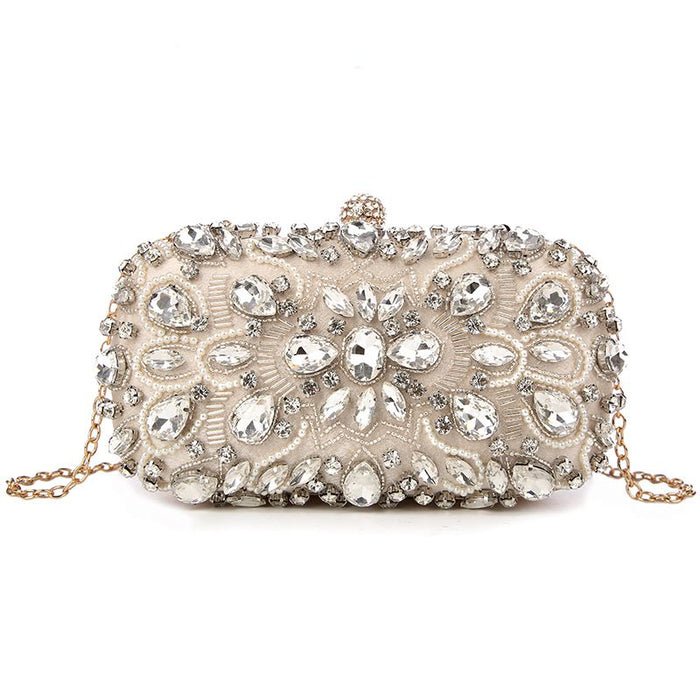 Evening Bags Diamond Rhinestone Pearls Beaded Day Clutch Women's Purse Handbags Wallets Evening Wedding Bag