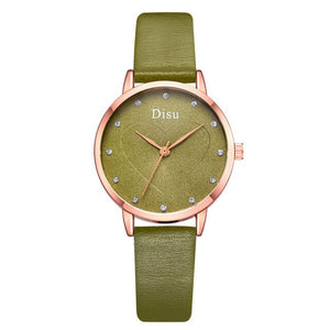 Exquisite Minimalist Women Watches New Simple Heart-shaped Dial Design Ladies Leather Wrist Watch Casual Gifts Clock For Woman