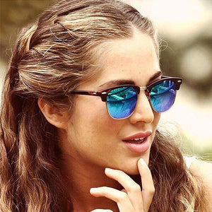 FEISHINI 2019 Personality High Quality Celebrity Sun glasses For Men Brand Classic Star Sunglasses Women Polarized Vintage UV400