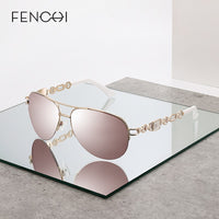 FENCHI sunglasses women Polarized uv 400 oculos Pilot Mirror Female Sun Glasses Pink feminino zonnebril dames gafas de sol mujer