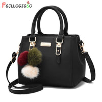 FGJLLOGJGSO brand women hairball ornaments totes solid sequined handbag Hot party purse lady messenger crossbody shoulder bags