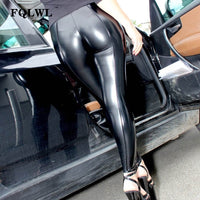 Leather Pants Women Trousers Black Pencil High Waist Skinny Pants Female