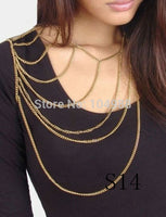 5PCS/LOT STYLE S14 WOMEN FASHION SIMPLE SINGLE SHOULDER CHAINS JEWELRY 3 COLORS
