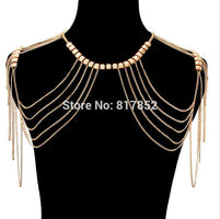 FREE SHIPPING New Style BY484  Bread Chains Double Shoulder Chains Chains Jewerly 3 Colors