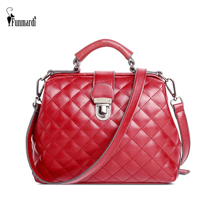 FUNMARDI Fashion Diamond Lattice Shoulder Bags For Women Handbag PU Leather Female Bag Brand High Quality Crossbody Bag WLAM0225
