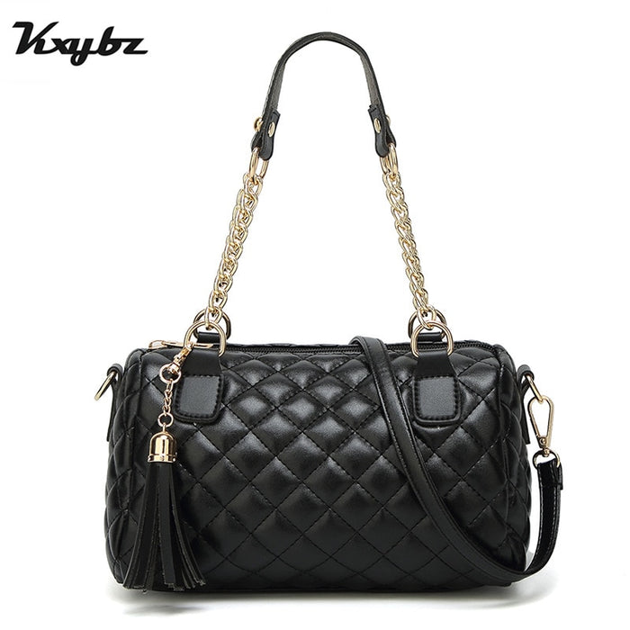 Famous Brand Leather Messenger Bags Luxury Shoulder Bag Quilted Designer Handbags Women Bag Vintage Chain Small Crossbody Bags