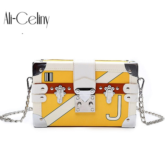 Famous brand rivet box handbags mini Cube Brand original design crossbody bags for women messenger bags women's shoulder bag