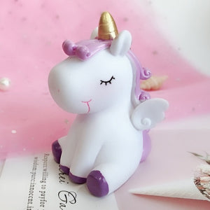 Fancy&Fantasy Rainbow PVC Animal Unicorn Keychain for Men Women Bag Ornament Phone Key Chain Porte Clef keyring Bag Decoration