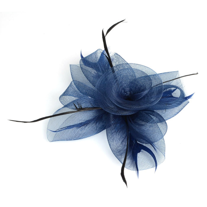 Fascinator with Feathers and Vintage French Veiling 17 colors ladies day Wedding Bridal Party Wedding Brides Hair Accessories