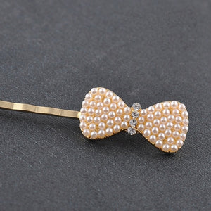 Fashion Bow Heart Rabbit Pearl Elastic Hair Bands for Women Girls