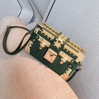 Fashion Box Women Bag Rivets Fashion Women Messenger Bags Small Square Girls Shoulder Bags 2018 New Female Shoulder Packages