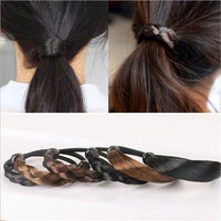 Fashion Braided Hair Band For Women Pigtail Type Rubber Bands Korean