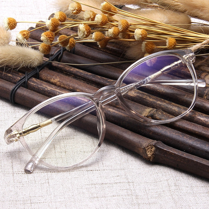 Fashion Clear Glasses Frame for Women Vintage Clear frame Round Eye Glasses Female Plastic Transparent Optical Glasses Frames