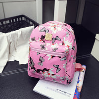 Fashion Floral Printing Women Leather Backpack School Bags For Teenage Girls Lady Travel Small Backpacks Feminina