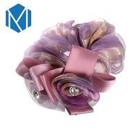 Fashion Flower Elastic Hair Bands Ponytail Holder Gum for Hair Accessories