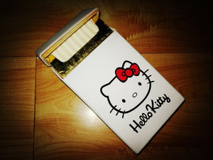 Fashion Girl 100's Cigarette Box Cover Hello Kitty Stars Vase Cigarette Case for Women Smoking Decorated Cigarettes Pack