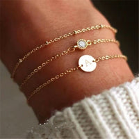 Fashion Gold Color Charm Letter Bracelet For Women Simple DIY Handmade Word Bracelets & Bangles Boho Anklets Jewelry Wholesale