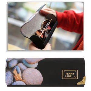 Fashion New 1 Pc Unisex Men Women Glasses Box Faux Leather Folding Art Case Protector Eyeglasses Storage Creative