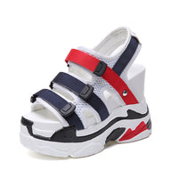 Fashion Open-toed Women Sandals Casual Wedge shoes Women Outdoor Platform Sports Shoes Waterproof Taiwan Breathable Summer Shoes