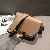 Fashion PU Leather Saddle Bag Women Luxury Brand Shoulder Bags Small Round Handbag Spring and Summer Crossbody Messenger Bags