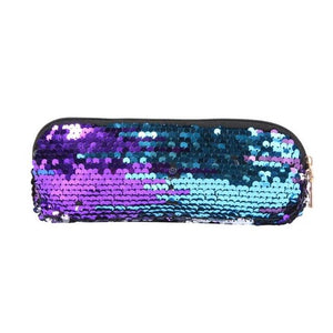 Fashion Sequins Pencil Case Cosmetics Bags Women Girls Purse Wallet Clutch Pen Bags for School Stationery New Arrival