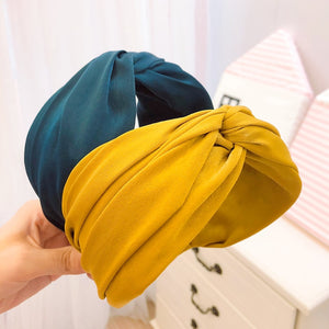 Fashion Style Hairband Knot Turban Solid Elastic Hair Head Hoop Bands Accessories Headband for Women Girls Wide headdress