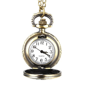 Fashion Vintage Quartz Pocket Watch Alloy Hollow Out Flowers Women Lady Girls Necklace Pendant Sweater Chain Clock Gifts LL@17