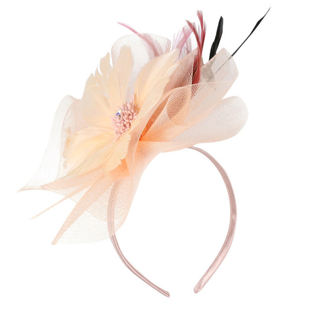 Fashion Women Fascinator Elastic Net Headdress Party Bridal Hair Accessories Vintage French Lady Veiling Cocktail Hat New