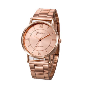 Fashion Women Men Simple Stainless Steel Analog Quartz Wrist Watch dress relojes para mujer luxury rose gold 2019
