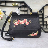 Fashion color printing color printing bag and flowers series portable leather shoulder bag printing