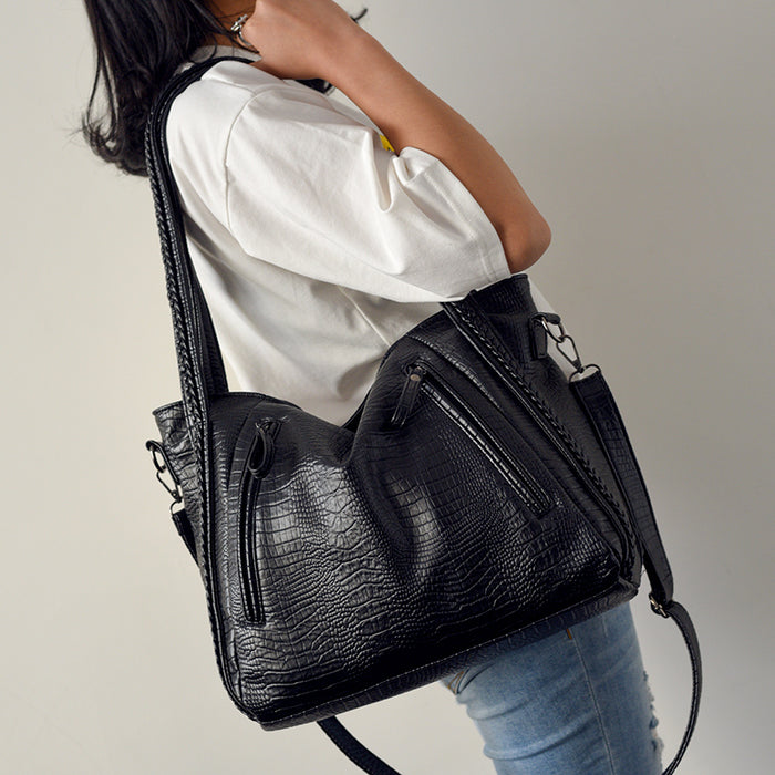 Fashion crocodile casual tote bags handbags women famous brands big shoulder bag female hobo large capacity women messenger bags