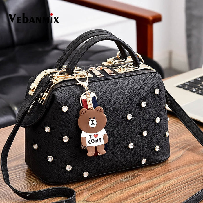 Female Crossbody Bags for Women 2018 Leather Handbags Flower Embroidery Women Shoulder Messenger Bag Bolsas Feminina Sac a Main