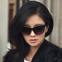 Female Cute Cat Eye Sun Glasses Women Popular Brand Designer Sunglasses Retro Goggles Cateye Sunglass Gradient Eyeglasses