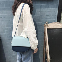 Female Small Saddle Bag Color Crossbody Bags For Women 2019 Solid Color Messenger Bag Ladies Fashion Travel Handbags and Purses