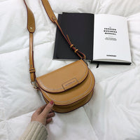 Female saddle Crossbody Bags For Women 2019 High Quality Leather Luxury Handbags Designer Sac Main Ladies Shoulder Messenger Bag