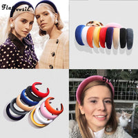 Flatfoosie 2019 Fashion Velvet Thick Headbands Women Head Band