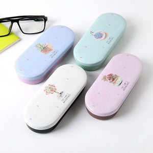 Four Candy Colors Available Lovely High Quality Hard Glasses Case Cute Eyeglass Sunglasses Protector Box Girls Spectacle Case