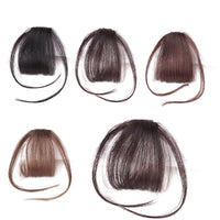 Front False Fringe Thin Blunt Clip In Bangs Hair Extension Synthetic False Hair piece for Women High Temperature Fiber DIFEI
