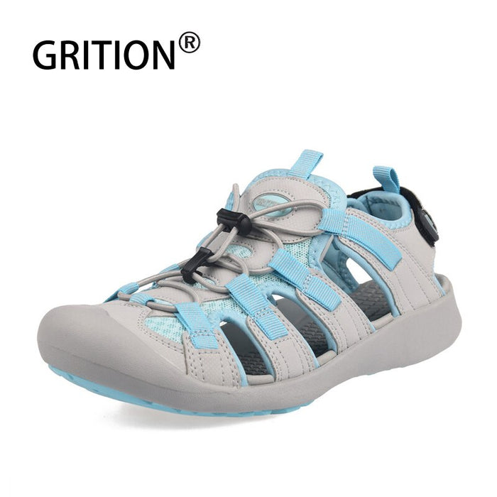 GRITION Sandals Women Outdoor Summer Adjustable Ladies Flat Beach Shoes Lightweight Casual Sandalias Walking Hiking 2019 New