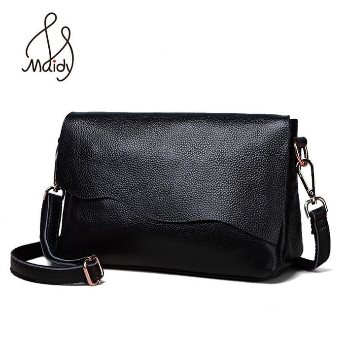 Genuine Cow Leather Crossbody Ladies Hand Bags For Women Soft Real First Layer Of Cowhide Handbag Bag Messenger Shoulder Maidy