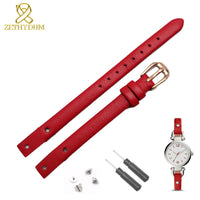 Genuine leather bracelet strap women fashion watchband small band 7mm 8mm for fossil ES4340 ES4119 ES4000 watch band with screw