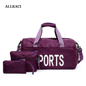 Gym Bags set Men Women Outdoor Waterproof Nylon Sports Bag  Girls Training Fitness Travel Handbag Yoga Mat Bag4849
