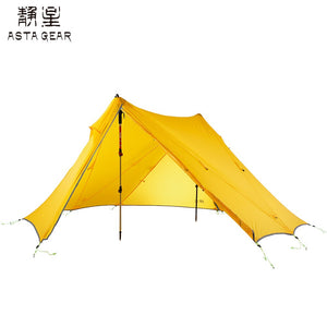 Asta Gear Rainstorm 2  Ultralight Pyramid Tent Trekking Pole Tent  Two person camping ul tent