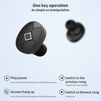 CBAOOO TWS V5 Bluetooth Earphones Bluetooth 5.0V  Wireless With Headphones Charge Box Sports Headset stereo With Dual Microphone