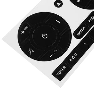 New Car Media Audio Radio Stereo Button Repair Stickers Decals Repair Sticker For Fiat 500 Car Stickers Fix Ugly Button