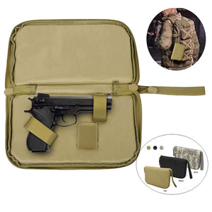 Tactical Gun Pouch Case Pistol Carry Bag Magzine Portable Holster Military Handgun Carrier Soft Protector Hunting Accessories
