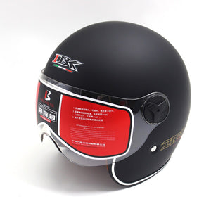 IBK Motorcycle Helmets Electric Bicycle Scooter Casco Casque Unisex 3/4 Anti-UV Open Face