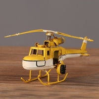 Helicopter Model Home Decoration Accessories Creative Handmade Wrought Iron Crafts Birthday Gift