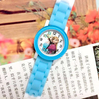 2019 frozen digital children's quartz silica gel watch with jelly color classic cartoon student wristwatch