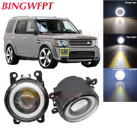 1pair Car Accessories H11 LED Fog Light with Angel Eye For Land Rover Range Rover Sport Freelander Discovery 4 LR4 SUV 2006-2014